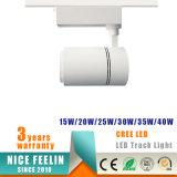 De witte/Zwarte LEIDENE van de MAÏSKOLF van de Huisvesting 15With20With30With40W van het Aluminium Lamp van het Spoor