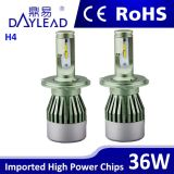 LED-Scheinwerfer ersetzen VERSTECKTES Xenon, heißeste Lampe H4 des Automobil-LED