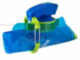 OEM BPA libèrent la bouteille d'eau s'élevante se pliante de sport avec le crochet