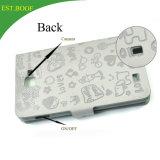 Caja caliente del teléfono de la carpeta del cuero grabado para el iPhone 7 y 7 más