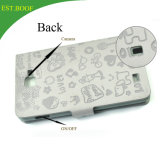 Caixa quente do telefone da carteira do couro gravado para o iPhone 7 e 7 positivos
