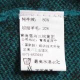 Casaco de malha de malha feminina Gn1419yak e lã