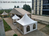 Подгонянный складывая Coated шатер Pagoda промотирования свадебного банкета с французским окном для сбывания