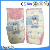 Super-Cuidado descartável dos tecidos do bebê com superfície do algodão