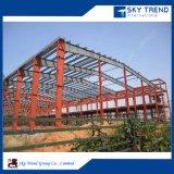 Edificio prefabricado del taller del marco de acero