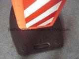 Placa de advertência T-Handle Seperaed Framwork 1110mm com base de borracha