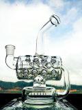 Modèle neuf en gros conduite d'eau en verre de mini recycleur portatif de hauteur de 8 pouces