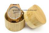 Toevallige Horloge van de Riem van het Leer van de Zweep van de Horloges van Mens het Houten Zwarte voor Gift