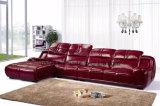 現代居間の家具のコーナーの革ソファー(UL-NS151)