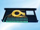Sc 1x32 1U para montaje en rack de 19 pulgadas de fibra óptica PLC Splitter