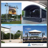 Sistema de aluminio de la azotea del braguero de la etapa al aire libre del concierto