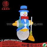 Impermeabilizzare l'indicatore luminoso bianco della decorazione di figura del pupazzo di neve della 2D via per la casa di natale