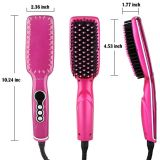 110-220 V Anti Scald LCD Display Hair Brush Straightener