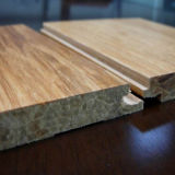 Uso de interior tejido hilo respetuoso del medio ambiente del entarimado de bambú