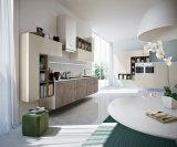 Cabina de cocina modular blanca del MDF