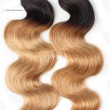 Pelo del brasilen@o de la extensión del pelo humano del pelo de la Virgen del visión de Guangzhou de la manera