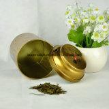 Ronda de metal de encargo caja de la lata de té