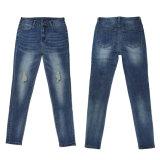 Повелительницы способа высокого качества оптовой продажи джинсовой ткани (MY-027)