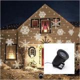 熱い販売の雪片のクリスマスのレーザー光線プロジェクター