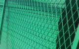 Cerca revestida de la conexión de cadena del PVC del plástico de la escuela