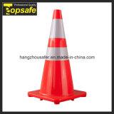 Cone vermelho do PVC da base de 28 polegadas (S-1232)