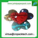 Rectángulo de regalo elaborado de encargo del almacenaje de la presentación de la cartulina de la dimensión de una variable del corazón