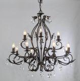 ULの承認の球体の仕上げのWroghtの鉄の上の販売の蝋燭のシャンデリア