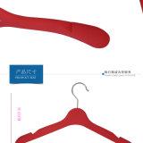 Gancho superior plástico revestido de borracha plástico do gancho de roupa das mulheres