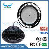 Lampe élevée légère industrielle de compartiment d'UFO de l'UL 240W DEL avec le grand radiateur