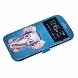 en móvil de la PU de las existencias o del modelo del OEM/el caso de cuero hermosos de la cubierta del teléfono de la impresión de Filp de la carpeta de la célula para Samsung A3 2017