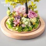 Fiore naturale di 100% Rosa per la decorazione di natale