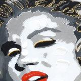 Peinture à l'huile de toile de verticale de vedette de pop sur des impressions