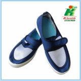 Ботинок сетки ESD Velco голубого цвета