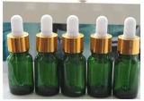 Botella de cristal clara del petróleo esencial con el casquillo de aluminio (EOB-09)