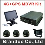 Portable  4 carro DVR do cartão 3G GPS da canaleta 128GB SD com G-Sensor Moudle