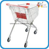 Supermarché de style européen 62L, chariot à panier poussé