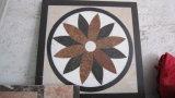 Teste padrão de mármore de pedra natural do mosaico do embutimento do medalhão do jato de água