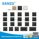 Nuevo interruptor del oro 3gang del diseño todos los tipos de socket