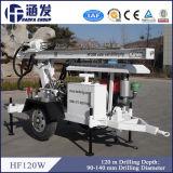 de Installatie van de Boring van het Boorgat van de Put van het Water van de Fabrikant Hf120W van 120m China voor Verkoop