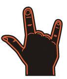 顧客のロゴの3本の指のエヴァの泡手