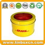 Caja de la lata de la ventana del PVC, caja redonda de la lata, embalaje de la lata