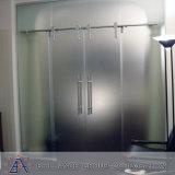 Hangende Schuifdeuren van het Glas van het aluminium de Enige