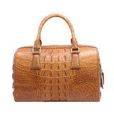 女性の本物のワニの革ハンドバッグの品質の方法ボストン袋