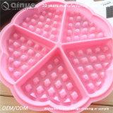 Круглая резиновый прессформа Waffle силикона еды 5 с 18*1.5cm