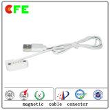 Водоустойчивый магнитный разъем силы с кабелем USB