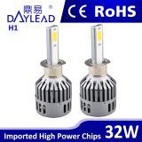 32W H1 scelgono il faro della testa LED 6000k LED dell'automobile del fascio