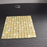Горячая плитка пола ливня мозаики сбывания с стеклянной раковиной