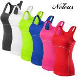 Camisa de deportes sin mangas de yoga de la aptitud de las mujeres Neleo Nt0001