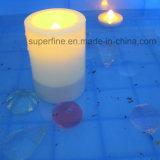 Im Freien Using wasserdichte romantische flackernde batteriebetriebene sich hin- und herbewegende Kerzen LED-Tealight für Pool