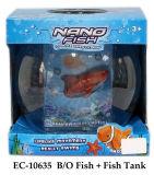 Jouet drôle de poissons de report et de réservoir de poissons